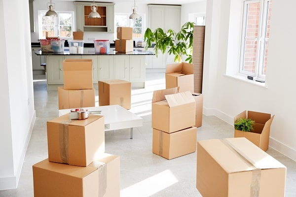 removals boxes ready for house move