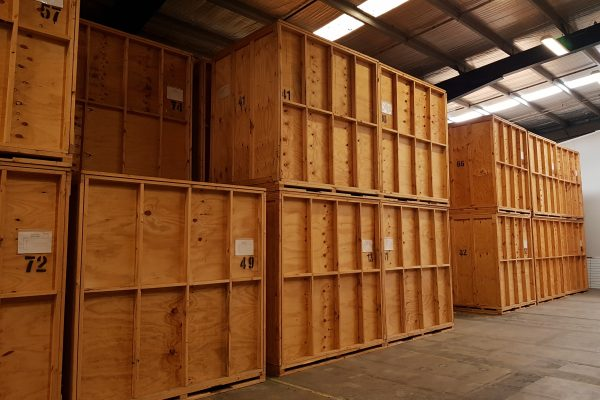 wooden storage containers for removals storage